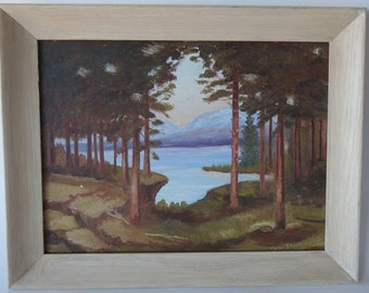 Painting ,Framed, Landscape, En Plein Air,1965, from Diz Has Neat Stuff