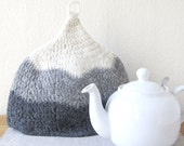 Gray Ombre Felted Wool Tea Cosy