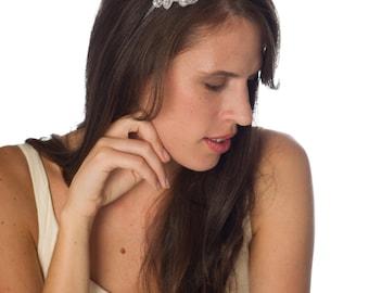 Crystal Applique Bridal / Evening Headband- Hair Accessory