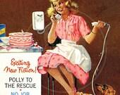 Calling all Girls (Jan 1962) - 10x14 Giclée Canvas Print of Vintage Children's Magazine