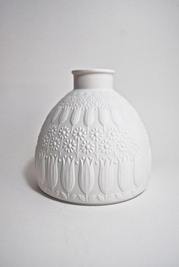 SALE  Vintage Nanny Still Mid Century Matte White Porcelain Vase Heinrich Germany