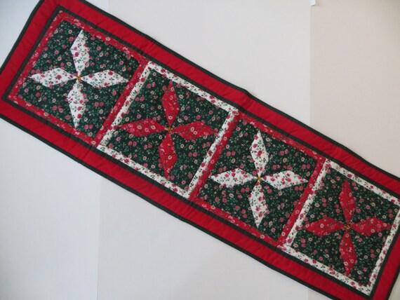 Quilt de no l chemin de table patchwork quilt d coration de - Chemin de table en patchwork ...