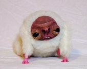 Reserved for Naomi - Collectible Kawaii  Doll  -  Sam the white and wrinkly Morlo