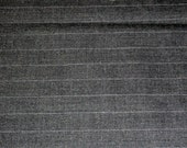Wool Blend Suiting Yardage Dark Gray Pinstripe