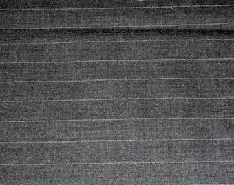 Wool Blend Suiting Yardage Dark Gray Pinstripe