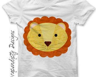 Lion Iron on Transfer - Circus Iron on Shirt PDF / Kids Lion Shirt / Toddler Boy Clothes / Baby Nursery Print / Girls Infant Clothing IT27