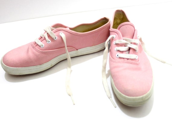 vintage retro light pink keds shoes size by vintagewestcoast