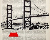 Illustration SAN FRANCISCO print poster mixed media painting illustration