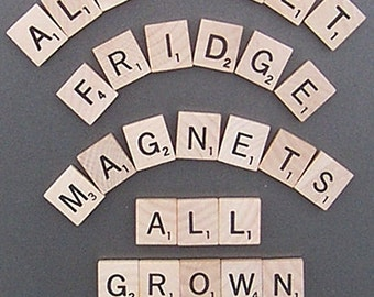 Scrabble Alphabet Refrigerator Magnets . . . .All Grown Up - Learning Toy, Kid's toy, Educational Toy
