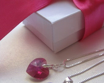 Mommy N Me Swarovski Necklaces. Daughter and mother gift, Valentin's Day gift, JewlesDesigns on Etsy