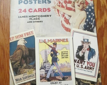 American World War I Posters, 24 Cards