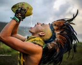 "Customizable Feather Mohawk / Headdress - ""The Warrior"""