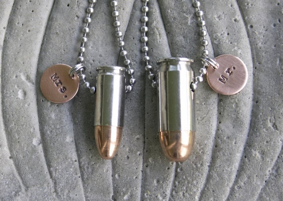 items similar to mr and mrs couples matching bullet