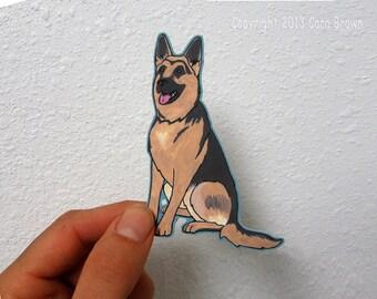 German Shepherd Dog Car Window Sticker Vinyl iPhone Decal waterproof durable indoor/outdoor