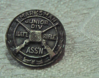 Vintage National Rifle Association Jr Marksman Pin Vintage NRA