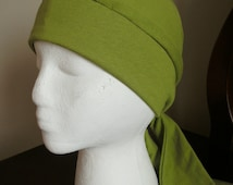 Fitted Chemo Headcovering Wrap--- Custom Made To Order--- Head Covering, Modest Covering, Chemo Hat, Cancer Hat, Head Wrap, Slouch Hat
