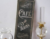 French Cafe Chalkboard Sign for Dollhouse