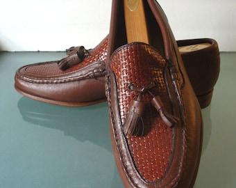 Vintage Johnston & Murphy Handsewn Tassle Loafer Crown Aristocrat