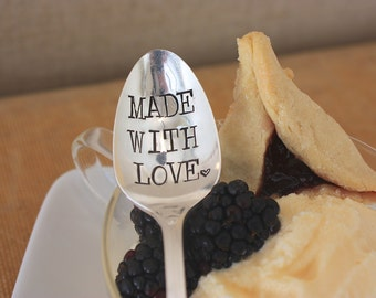Made With Love - Hand Stamped Spoon - Vintage Gift -  Every Day Vintage - unique gift, under 25 - as seen on SKINNYTASTE