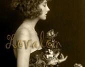 MATURE... Bouquet... Instant Digital Download... Vintage Nude Photo Image by Lovalon