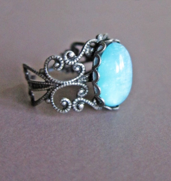 antique silver ring turquoise ring gift tale