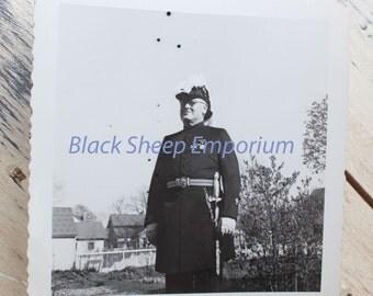 Vintage Military Man,  Photography, Paper Ephemera, Antique, Snapshot, Old Photo, Black and White