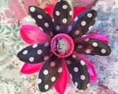 Hot Pink Polka Dot Marilyn Monroe Hair Flower