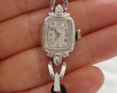 Vintage Ladies Watch - Hamilton with Black Corded Band