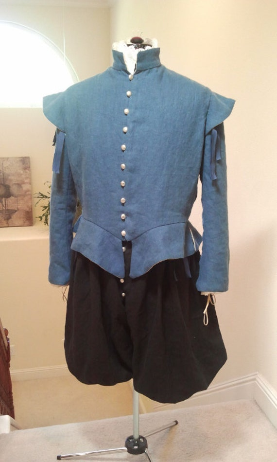 Renaissance Doublet & Breeches - Custom Color/Size