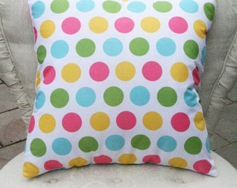 Riley Blake Pillow Cover, Polka Dot Pillow Cover or Chevron Pillow Cover Easter Pillow