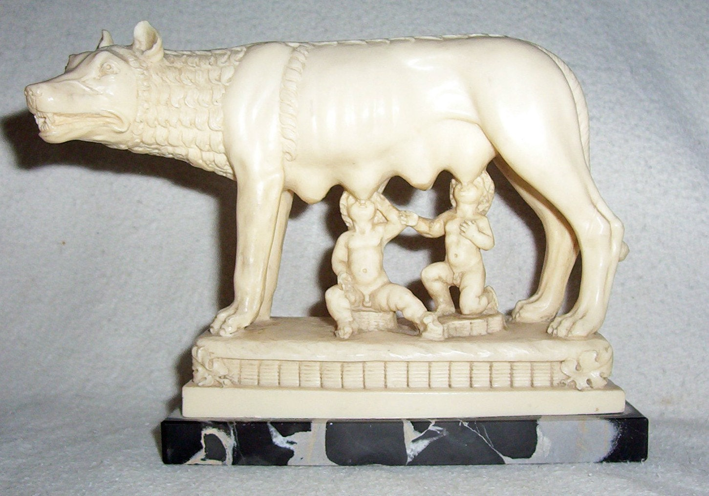 Neo Classical Romulus Amp Remus Sculpture By A Santini Made In