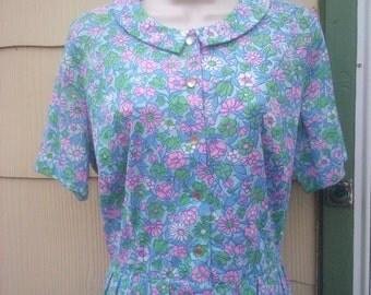 Vintage 1950s 1960s Shelton Stroller Dress Belt  NOS  New Old Stock Floral Peter Pan Collar Mad Men/Rockabilly