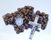 French Catholic Rosary in Silver and Glass (AQ)