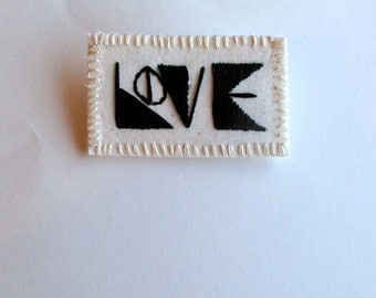 Geometric love brooch for Valentine's Day or anytime