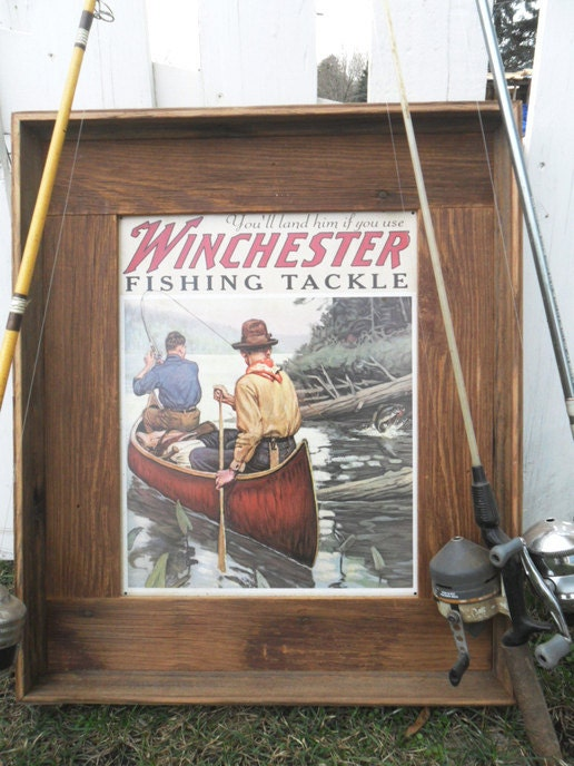 Earthy Cabin D Cor Fishing Lodge Sign Winchester Tackle