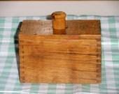 Wooden Butter Mold Wheat Design
