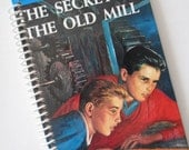 HARDY BOYS book journal notebook Recycled  Spiral Bound - The Secret of the Old Mill  Franklin Dixon