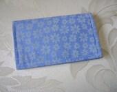 Blue Floral Business Card Holder / Gift Card Holder / Mini Wallet Case