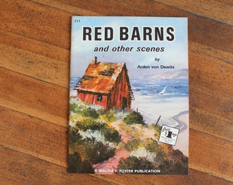 Vintage Drawing Book - Red Barns and Other Scenes by Arden von Dewitz