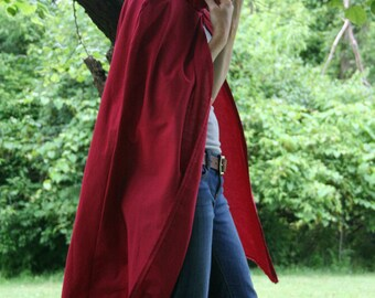 Hooded Cloak - Adult, Red
