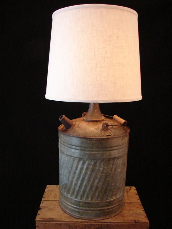 Rustic Kerosene Can Table Lamp by BenclifDesigns on Etsy