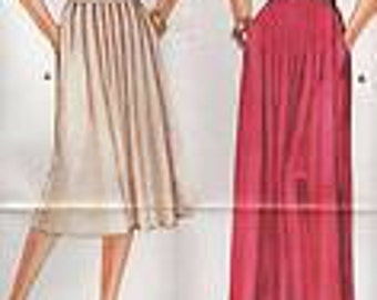 Sewing pattern Burda 6540 Pleated wrap skirt Waist 69-97cm Instructions and uncut only