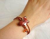 Fox Bracelet, Wrap Bracelet