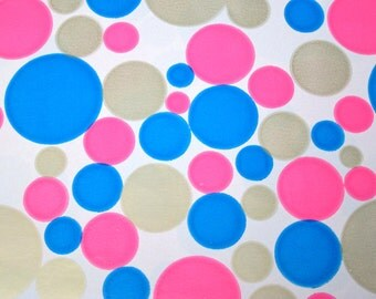 Vintage Polka Dot Gift Wrap Sheets 60s Mod Neon Pink Blue