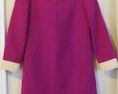 Sale half off, Adorable 1960's Fuchsia Womens Dress