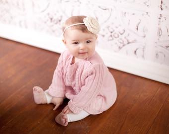 baby headband, crochet baby headband, crochet headband, newborn headband