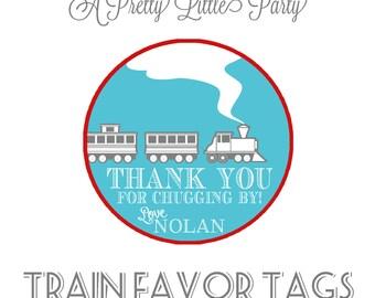 Custom Train Party Favor Tags - Choo Choo Favor tags - Party Supplies