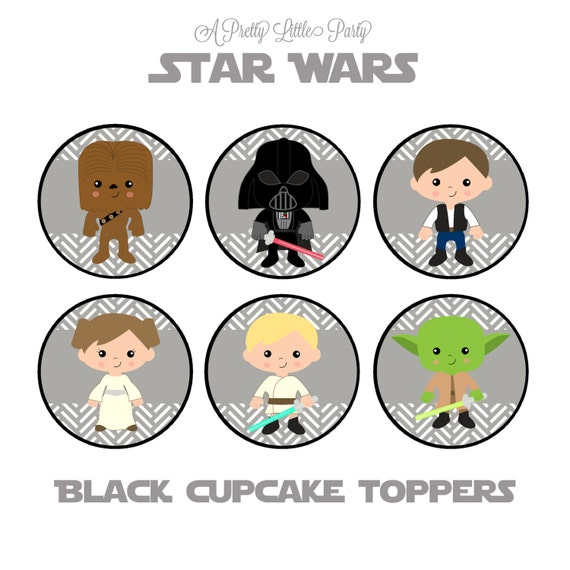 Star Wars Cupcake Toppers - Character Cupcake Toppers - Star Wars - Party Supplies - INSTANT DOWNLOAD