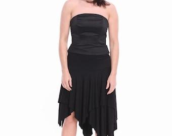 Tango Tunic - Skirt,  Transformer Tango Clothes, Custom Color Tango Clothing, Custom Size Short Tango Dresses