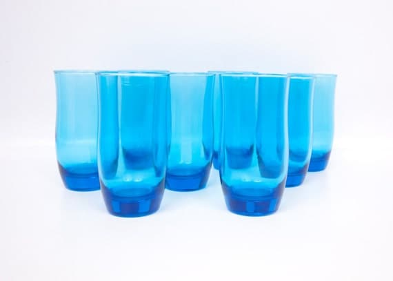 Blue And White Drinking Glasses